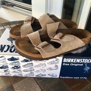 Birkenstock 'Arizona' soft footbed suede sandals